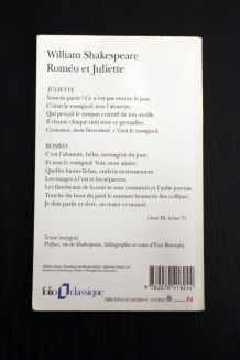 "Roman d'occasion ""Roméo et Juliette"" de William Shakespeare"