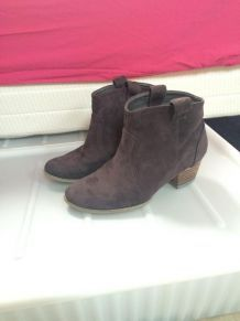 Bottines low boots taupes gris anthracite