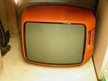 tv télé années 70 orange