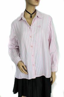 Chemise rayé rose et blanc