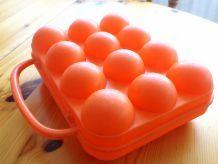 Boîte à oeuf orange