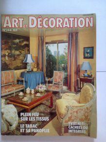 """Magazine de de collection  """"Art et décoration"""" des années 1970"""