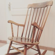Rocking chair vintage années 70