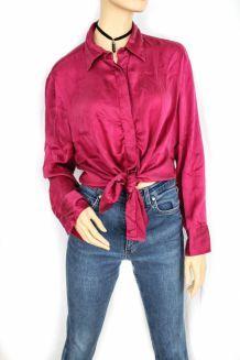 chemise vintage soie