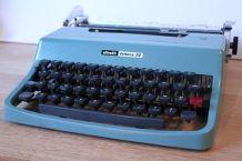 Machine à écrire Olivetti années 50 couleur bleu gris