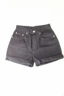 short taille haute noir vintage