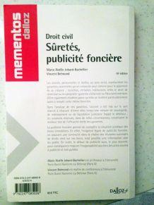 Mementos Dalloz - Droit civil : Sûretés, publicité foncière