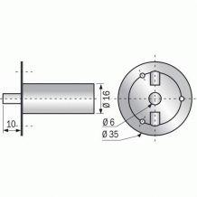 Serrure Barillet de sureté 8205 - Condamnation de portes à glissière