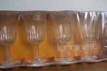 6 verres à pied en cristal Luminarc / Regence 2