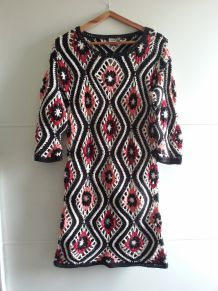 robe courte ASOS crochetée T36-38