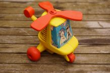 Hélicoptère à pousser Playskool vintage