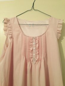 Robe rose babydoll