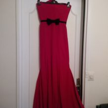 robe longue rouge taille 38