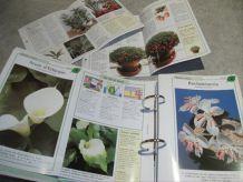 6 classeurs fiches : Soins & Beaute des Plantes