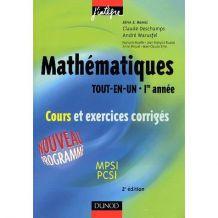 Livre mathématiques prépa MPSI PCSI