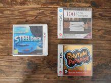 Console nintendo 3DS XL black/silver + jeux