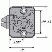 2 Serrures de rideau d'armoire à crochets - Pour cylindre 6195 HETTICH
