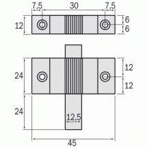 2 Loqueteaux pour châssis - En aluminium laqué blanc - LA CROISÉE