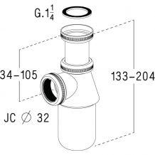 Siphon lavabo et bidet Haute gamme en laiton chromé brillant (SAS FRANCE)