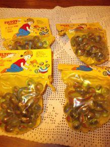 Jeux pour Enfants Lot de 4 sacs de billes en verre encore emballées