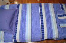 Parure de lit bleue lit 1 place