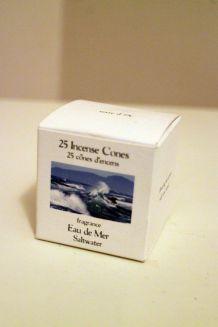 Cones Encens Terre d'Oc fragrance Eau de mer