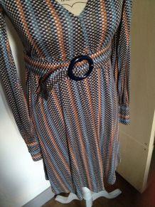 Robe style vintage imprimée