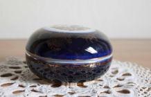 bonbonnière porcelaine bleue et doré