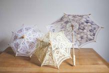 lot de 3 ombrelles dentelles