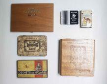 lot de 6 boîtes vintage CAMEL, MEHARI'S, MERCATOR...