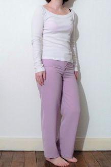 Pantalon Droit Violet pastel- Taille 36- Chantal Rosner