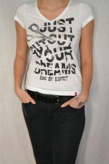 Tshirt graphique blanc & noir EDC by Esprit