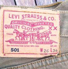 Jean Levis 501 Taille 26 34