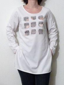 Tee Shirt / Tunique Longue Blanche- Biche De Bere