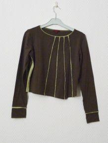 Tee Shirt En 92% Coton et 8% Elasthanne Kaki- Solola