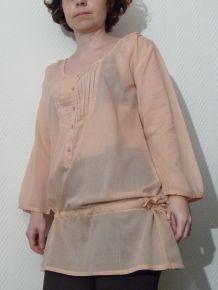 Tunique / Chemise Longue Rose Pastel - neuve- Toumai