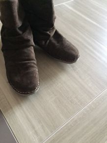 chaussures boots chocolat