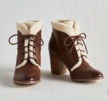 Bottines fourrées, style vintage - Pointure 41