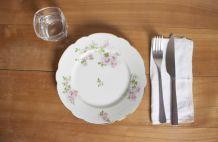 assiette à dessert  motif fleur