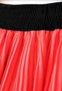 Jupe plissée Corail
