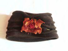 Bonnet en laine marron