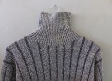 Pull rayures grises verticales