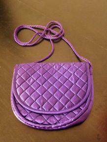 Sac À Main / Sac Du Soir en tissu Violet - Neuf