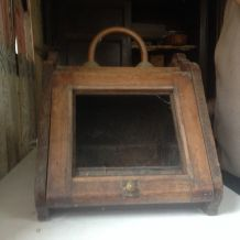 chaufferette ancienne en bois