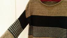 Pull coton court droit large