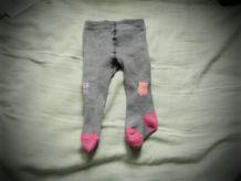 collants gris et rose bébé