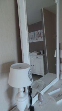 miroir blanc cassé 131 x 81 cm