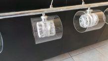 lustre luminaire design 4 globes en verre
