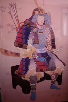 Tableau samourai japonais cadre décoration maison