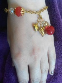 bracelet fantaisie dorée